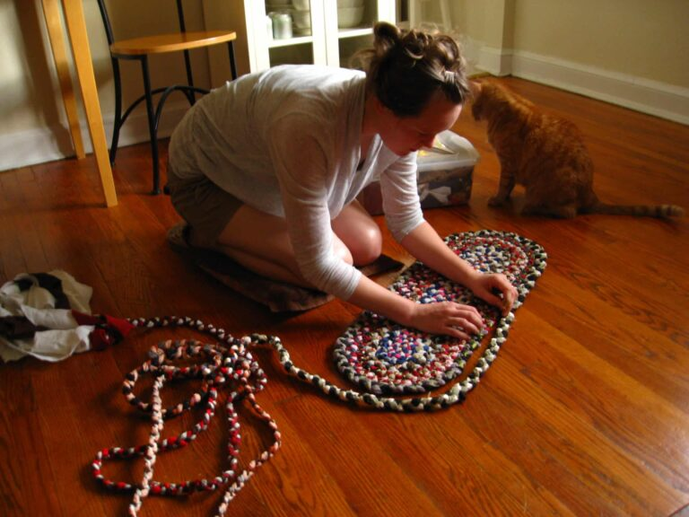 how to make braided rugs