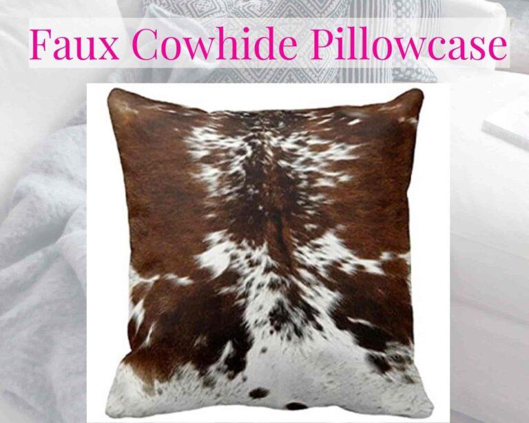 faux cowhide pillowcase