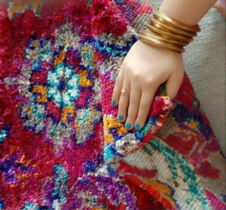 sari silk rug india