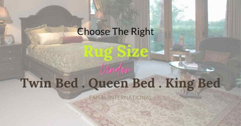what size area rug under queen bed