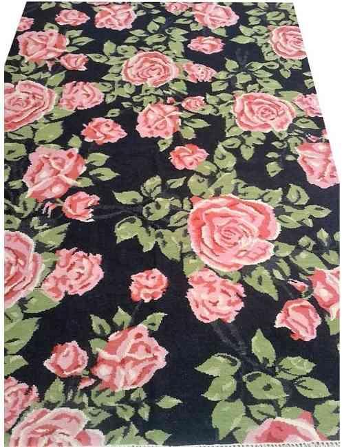 floral punja dhurry rug