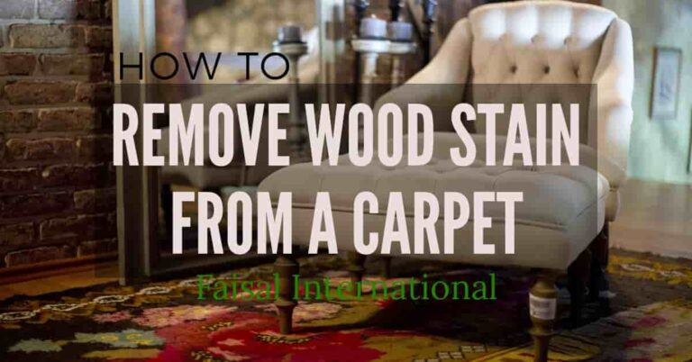 How To Get Wood Stain Out Of carpet