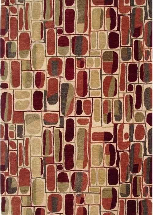 modern style tufted rug