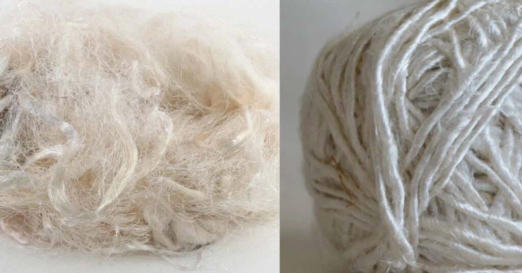 banana silk fabric and yarn