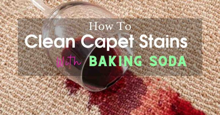 how to clean carpet stains with baking soda