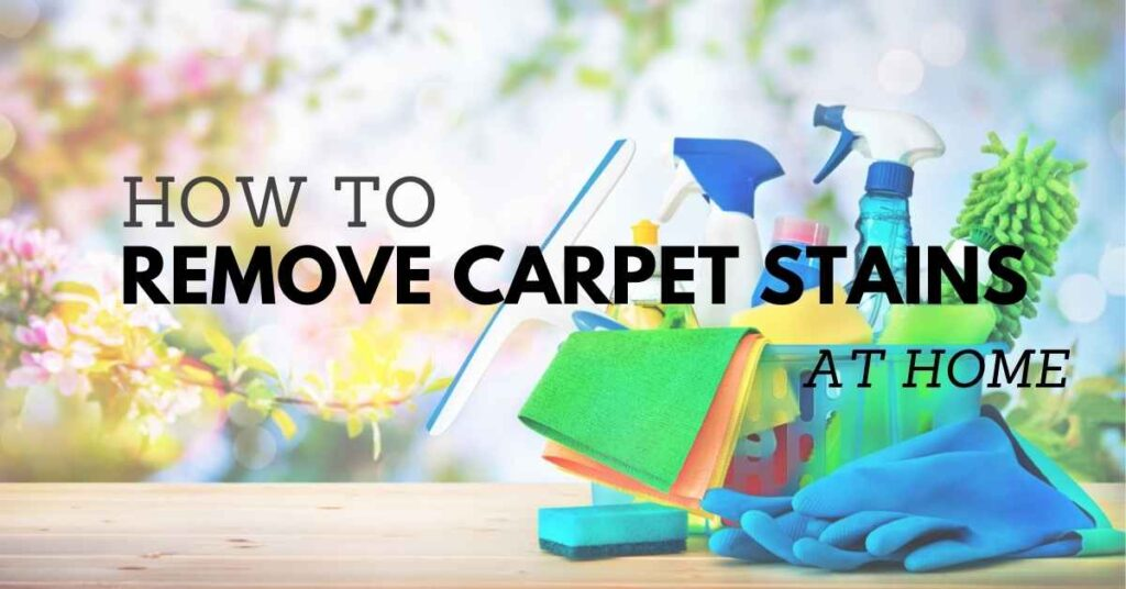 how to remove stains from carpet at home