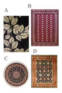 wool persian rug with fringe