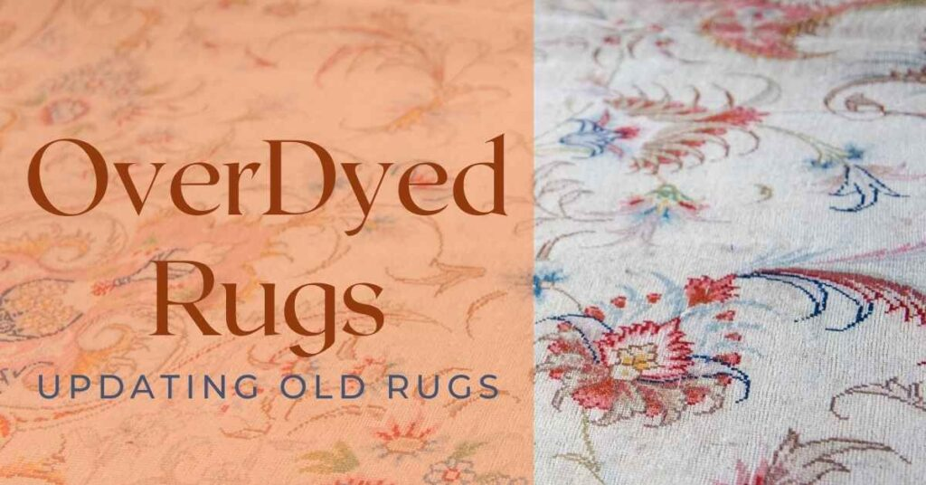 overdyed rugs diy